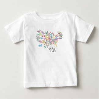 United States of America Script Text Map Baby T-Shirt