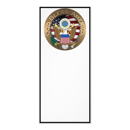 United States of America Seal - God Bless America Custom Rack Card
