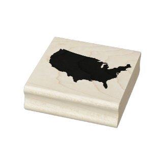 United States of America Solid Rubber Art Stamp