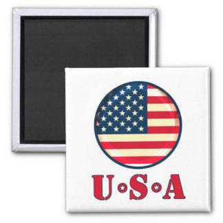 United States of America Square Magnet