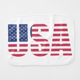 United States of america USA Flag letter design Burp Cloth