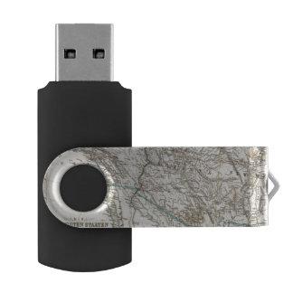 United States of America West Swivel USB 2.0 Flash Drive