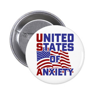 United States of Anxiety 2 Inch Round Button
