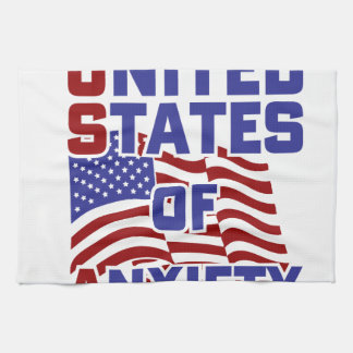 United States of Anxiety Kitchen Towel