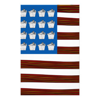 United States of bacon and Cupcakes Personalized Stationery