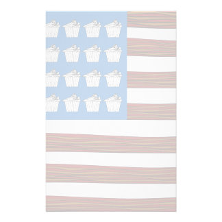 United States of bacon and Cupcakes Stationery Design