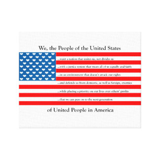 United States of Love Oath Canvas Print