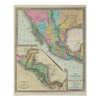United States Of Mexico Poster