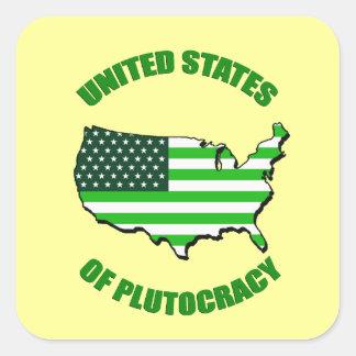 United States of Plutocracy Square Sticker
