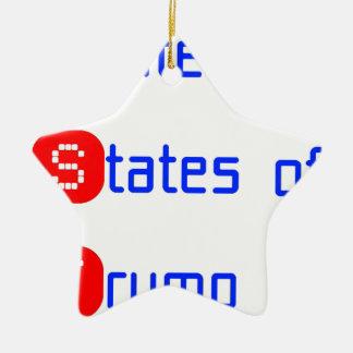 united states of Trump Ceramic Star Ornament