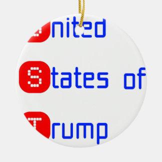 united states of Trump Round Ceramic Ornament