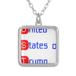 united states of Trump Silver Plated Necklace
