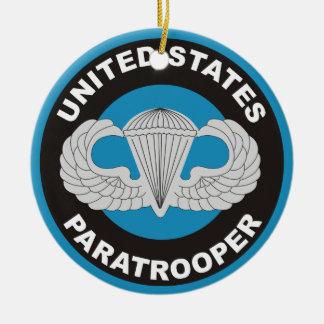 United States Paratrooper Ceramic Ornament
