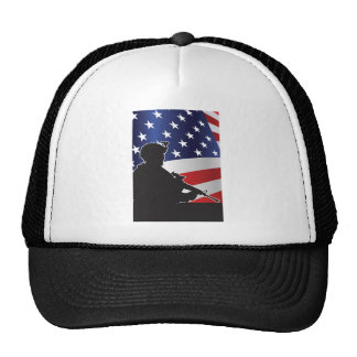 United States, Patriot, Flag and Military Trucker Hat