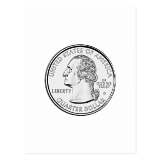 United States Quarter Coin Postcard