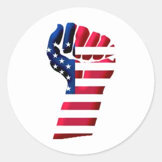 United States Revolution Round Sticker