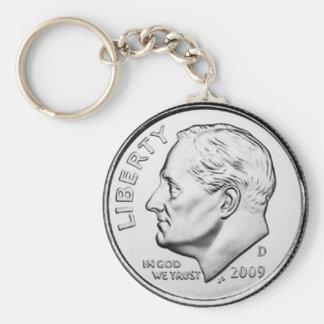 United States Roosevelt Dime Keychain