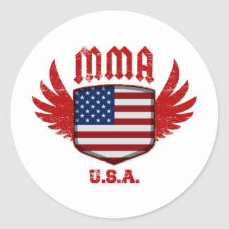 United States Round Sticker