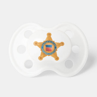 United States Secret Service badge baby pacifier