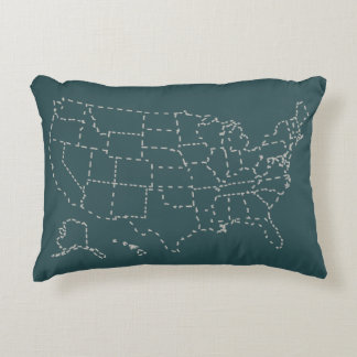 United States Silhouette Pillow