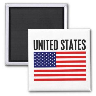 United States Square Magnet