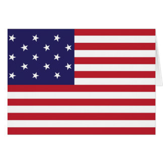 United States Star Spangled Banner Flag Card