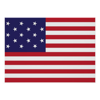 United States Star Spangled Banner Flag Poster