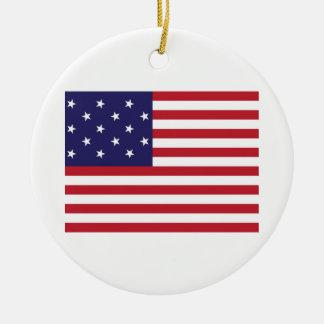 United States Star Spangled Banner Flag Round Ceramic Ornament
