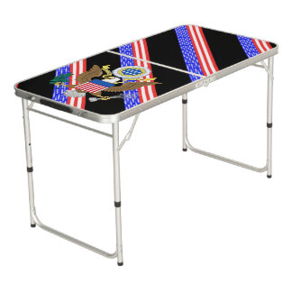 United States stripes flag Beer Pong Table