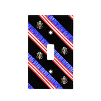 United States stripes flag Light Switch Cover