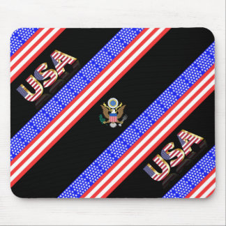 United States stripes flag Mouse Pad