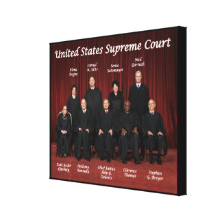 United States Supreme Court Justices Canvas Print