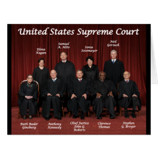 United States Supreme Court Justices Card