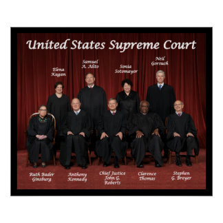 United States Supreme Court Justices Poster
