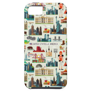 United States Symbols Pattern iPhone 5 Cover