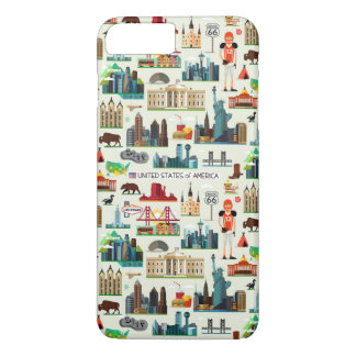 United States Symbols Pattern iPhone 8 Plus/7 Plus Case