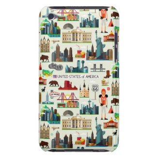United States Symbols Pattern iPod Touch Case