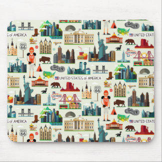 United States Symbols Pattern Mouse Pad