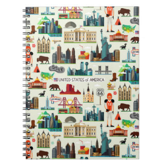United States Symbols Pattern Notebooks