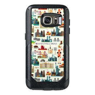United States Symbols Pattern OtterBox Samsung Galaxy S7 Case