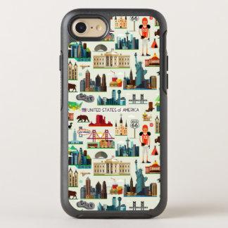 United States Symbols Pattern OtterBox Symmetry iPhone 8/7 Case