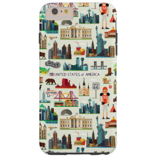United States Symbols Pattern Tough iPhone 6 Plus Case