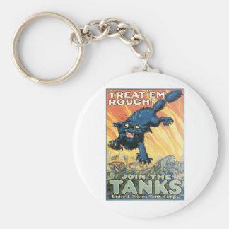 United States Tank Corps. circa 1918 Basic Round Button Keychain