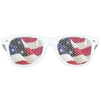 United States undulating flag Retro Sunglasses