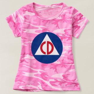 United States US Civil Defense Logo Vintage Symbol T-shirt
