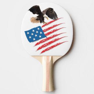 United States US Flag Ping Pong Paddle