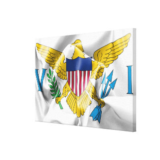 United States Virgin Islands Flag Canvas Print
