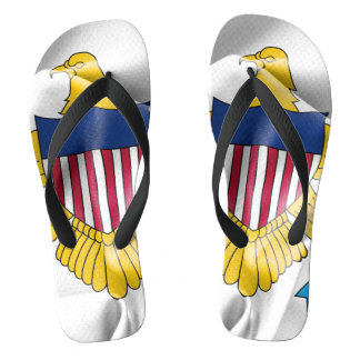 United States Virgin Islands Flag Flip Flops