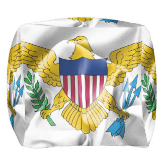 United States Virgin Islands Flag Pouf