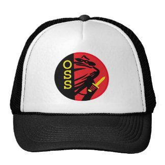 United States War Department Office of Stratigic S Mesh Hats